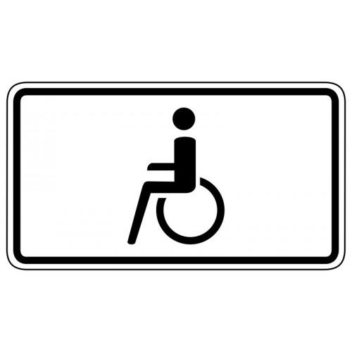 Nur Schwerbehinderte mit außergewöhnlicher Gehbehinderung und Sehbehinderte - StVO-1044-10