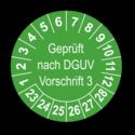 Geprüft nach DGUV Vorschrift 3, grün