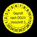 Geprüft nach DGUV Vorschrift 3, gelb