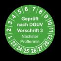 Geprüft nach DGUV Vorschrift 3 Nächster Prüftermin, grün