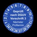 Geprüft nach DGUV Vorschrift 3 Nächster Prüftermin, blau