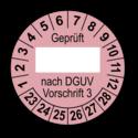 Geprüft … nach DGUV Vorschrift 3, rosa (zum Selbstbeschriften)