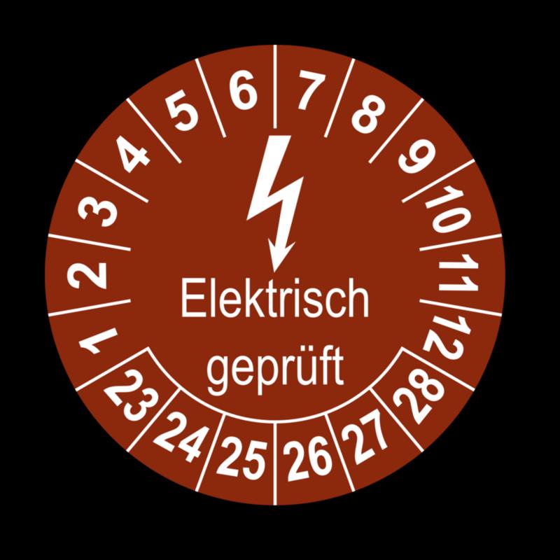 Elektrisch geprüft, braun