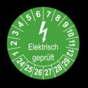 Elektrisch geprüft, grün