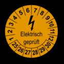 Elektrisch geprüft, orange