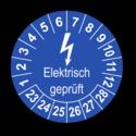 Elektrisch geprüft, blau