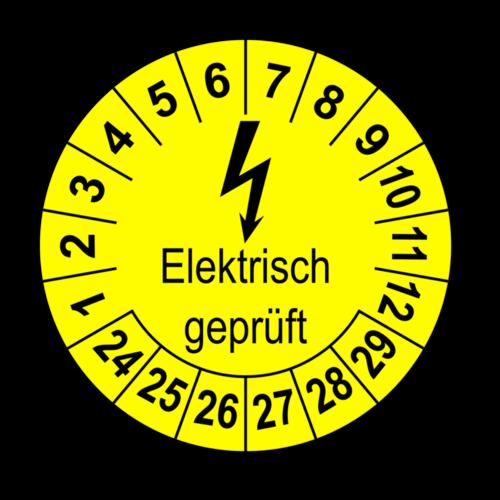 Elektrisch geprüft, gelb