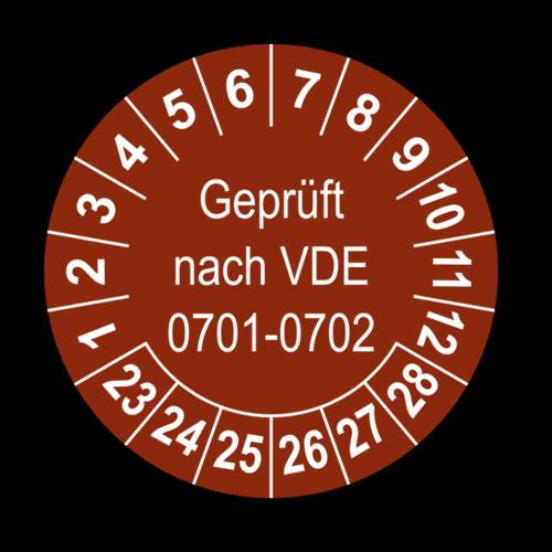 Geprüft nach VDE 0701-0702, braun
