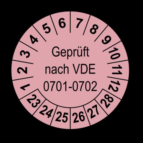 Geprüft nach VDE 0701-0702, rosa