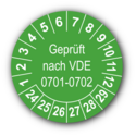 Geprüft nach VDE 0701-0702, grün