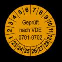 Geprüft nach VDE 0701-0702, orange