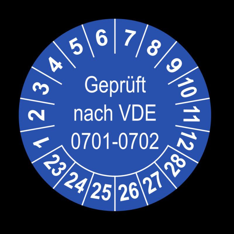 Geprüft nach VDE 0701-0702, blau