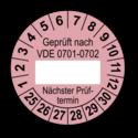 Geprüft nach VDE 0701-0702 … Nächster Prüftermin, rosa (zum Selbstbeschriften)