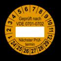 Geprüft nach VDE 0701-0702 … Nächster Prüftermin, orange (zum Selbstbeschriften)