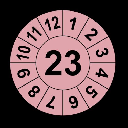 Jahresprüfplakette mit zweistelliger Jahreszahl, 2018