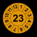 Jahresprüfplakette mit zweistelliger Jahreszahl, 2020