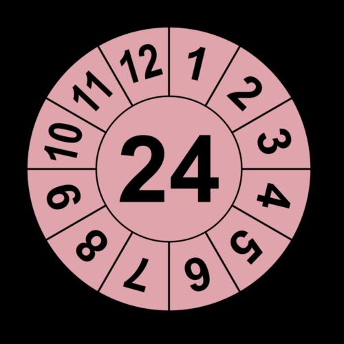 Jahresprüfplakette mit zweistelliger Jahreszahl, 2019