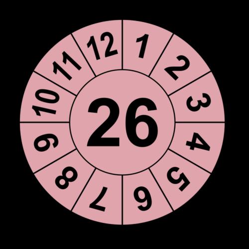 Jahresprüfplakette mit zweistelliger Jahreszahl, 2021