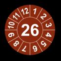Jahresprüfplakette mit zweistelliger Jahreszahl, 2023