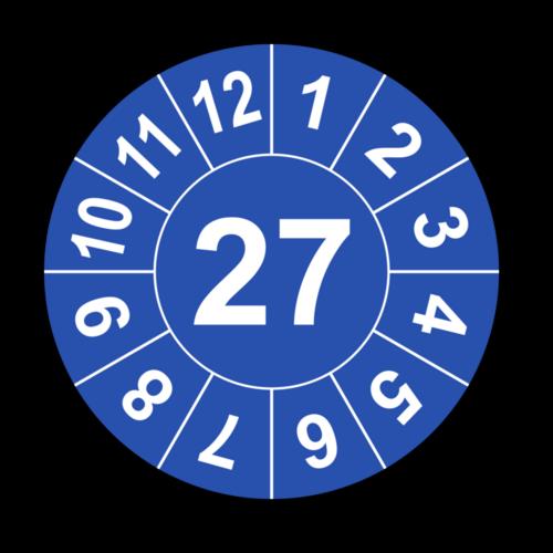 Jahresprüfplakette mit zweistelliger Jahreszahl, 2022