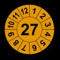 Jahresprüfplakette mit zweistelliger Jahreszahl, 2024