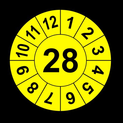 Jahresprüfplakette mit zweistelliger Jahreszahl, 2026