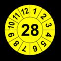 Jahresprüfplakette mit zweistelliger Jahreszahl, 2025