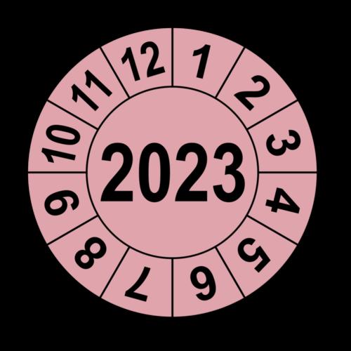 Jahresprüfplakette mit vierstelliger Jahreszahl, 2018