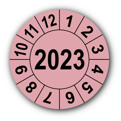 Jahresprüfplakette mit vierstelliger Jahreszahl, 2022