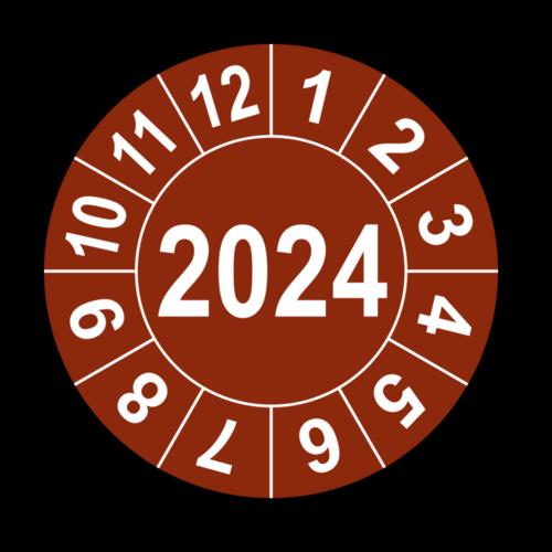 Jahresprüfplakette mit vierstelliger Jahreszahl, 2019