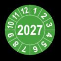 Jahresprüfplakette mit vierstelliger Jahreszahl, 2024
