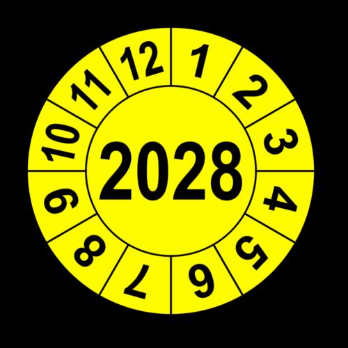 Jahresprüfplakette mit vierstelliger Jahreszahl, 2026