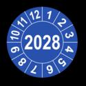 Jahresprüfplakette mit vierstelliger Jahreszahl, 2025