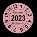 """Jahresprüfplakette """"Nächster Prüftermin"""", 2020"""