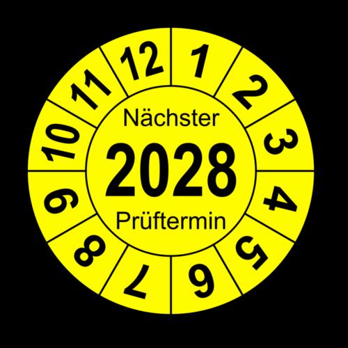 """Jahresprüfplakette """"Nächster Prüftermin"""", 2026"""