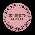 Sicherheitsgeprüft, rosa
