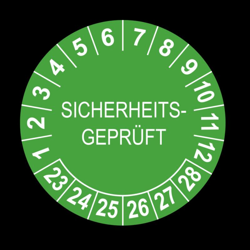 Sicherheitsgeprüft, grün