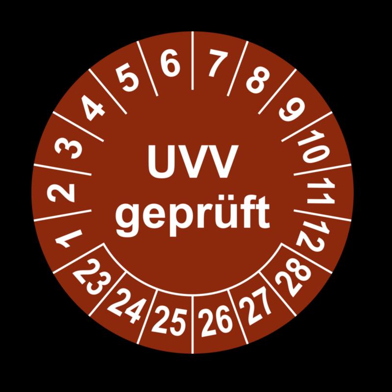 UVV geprüft, braun