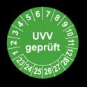 UVV geprüft, grün