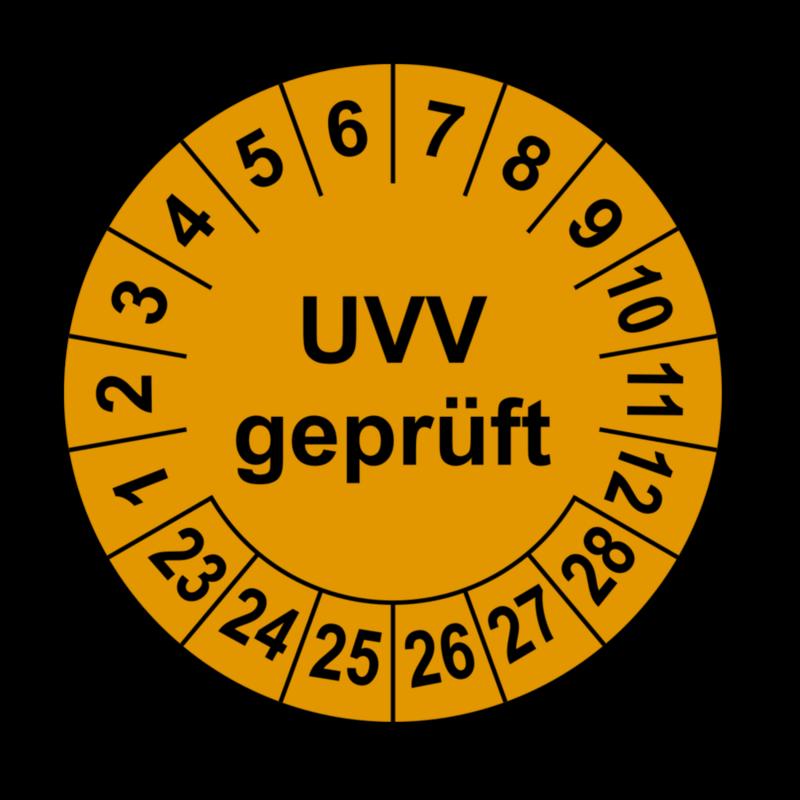 40mm Prüfplaketten Geprüft nach UVV 20 Stück Ø