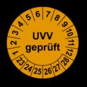 UVV geprüft, orange