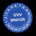 UVV geprüft, blau