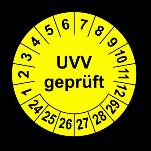 UVV geprüft, gelb