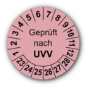 Geprüft nach UVV, rosa
