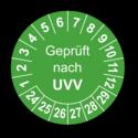 Geprüft nach UVV, grün