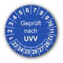 Geprüft nach UVV, blau
