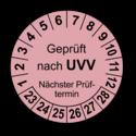 Geprüft nach UVV Nächster Prüftermin, rosa