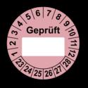 Geprüft …, rosa (zum Selbstbeschriften)