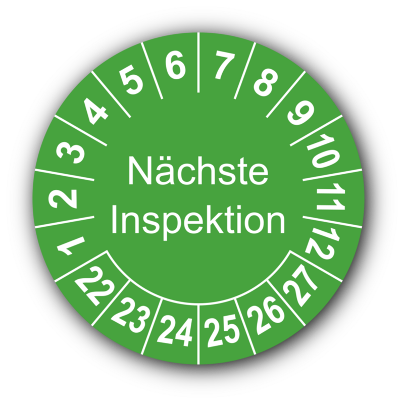 Nächste Inspektion, grün