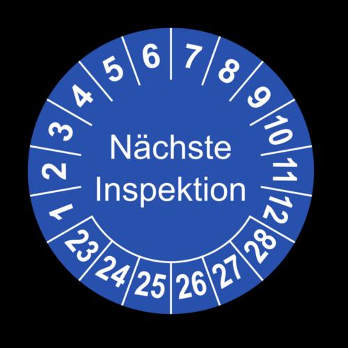 Nächste Inspektion, blau